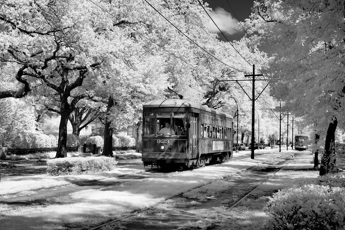 St. Charles Avenue Street car in New Orleans, Louisiana
