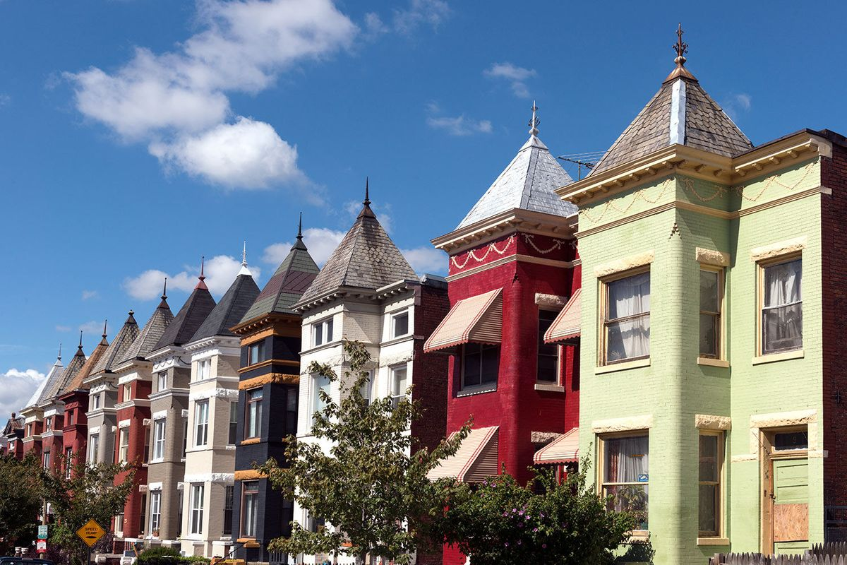 Row houses in Washington, D.C., neighborhoods