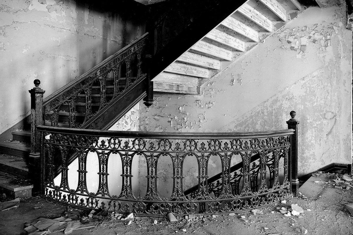 Iron staircase in the Willard Hotel in Washington, D.C.