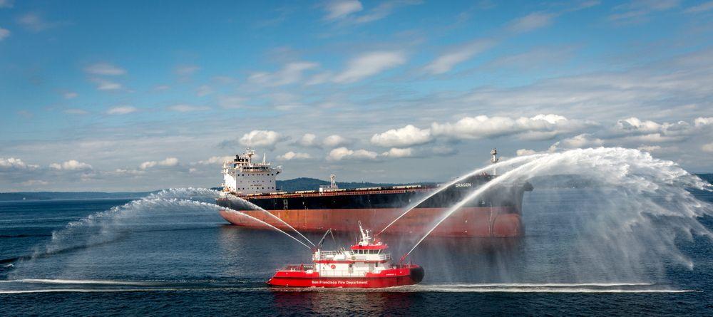 Fireboat sea trials. Seattle, WA