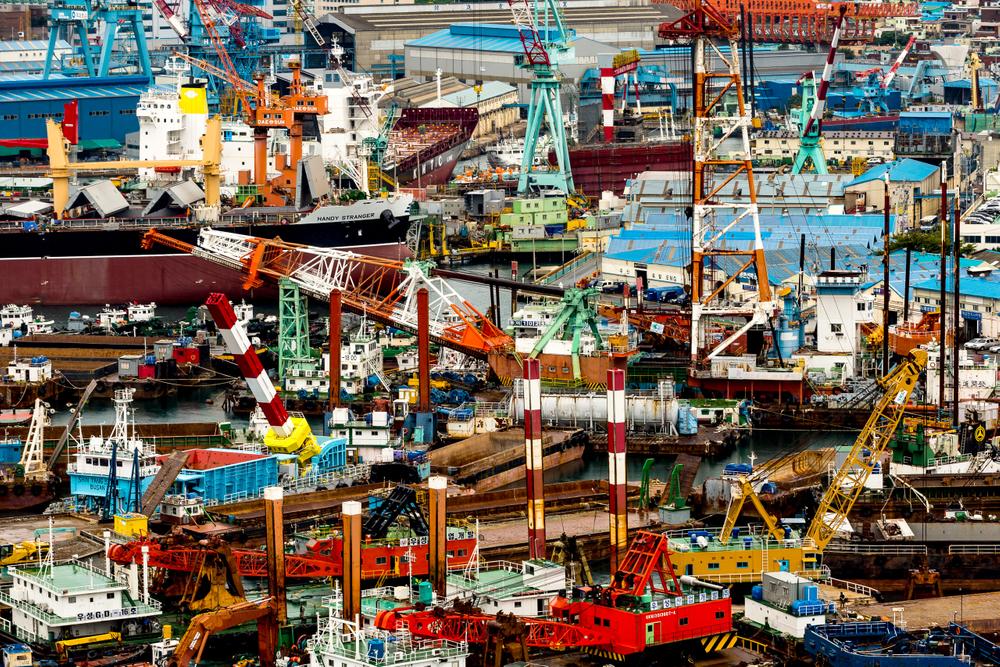 Shipyards. Pusan, Korea