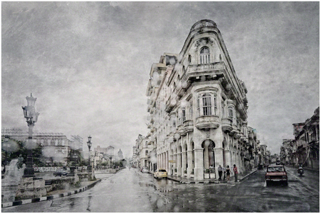 Central Havana Through The Raindrops