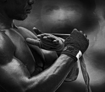 Boxer Taping Up