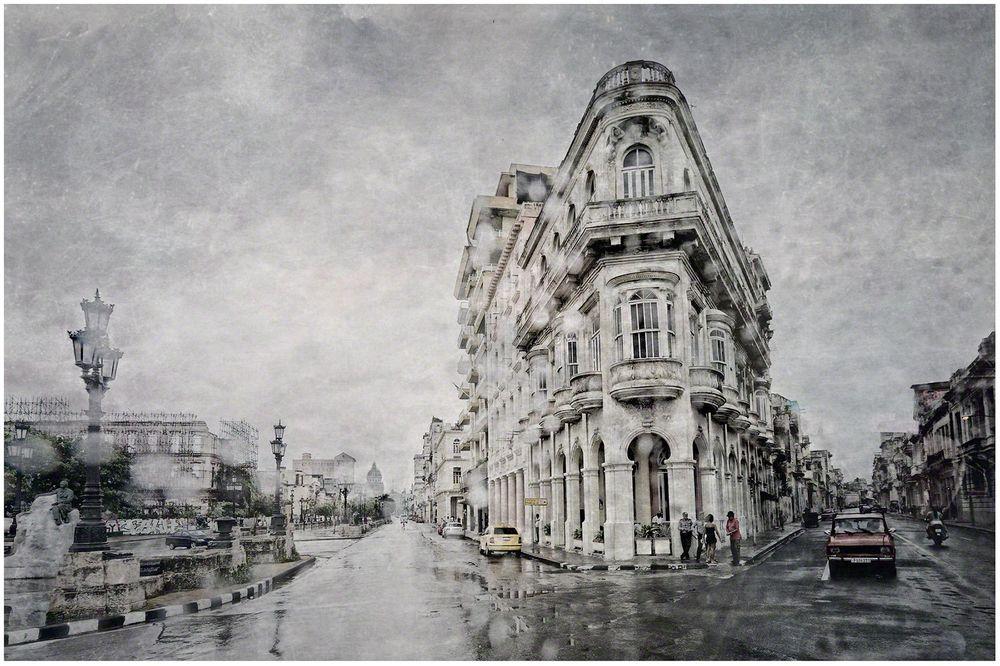 Central Havana Through The Raindrops