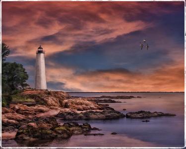 """Mystic Seaport Light House"""