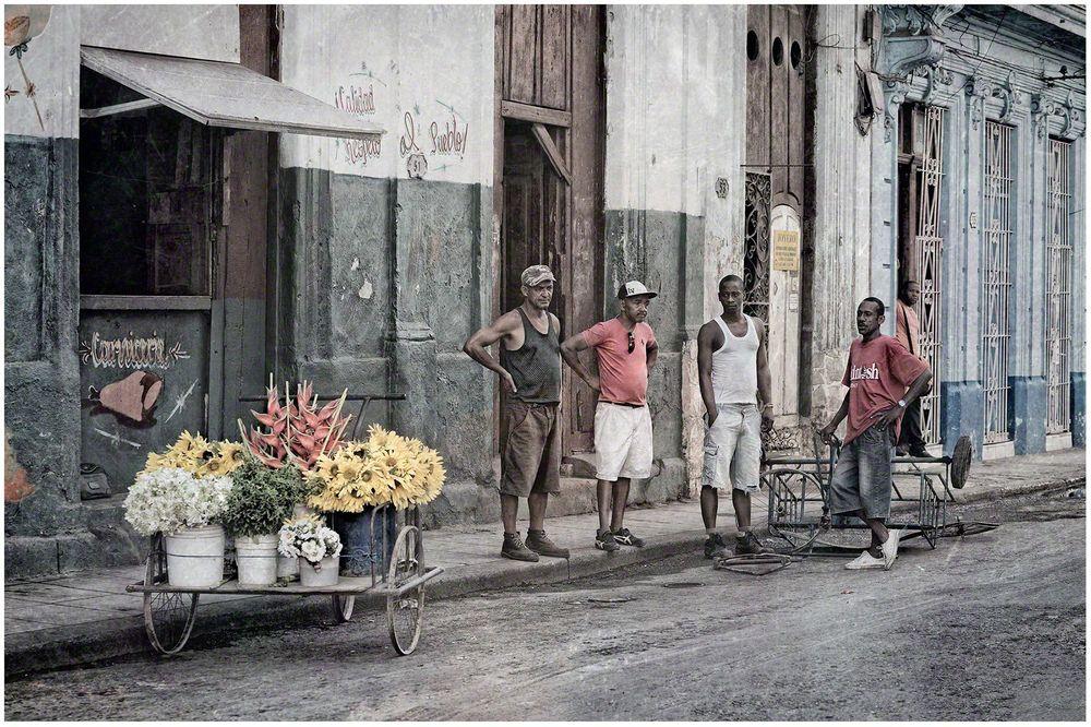 Selling Flowers in Havana