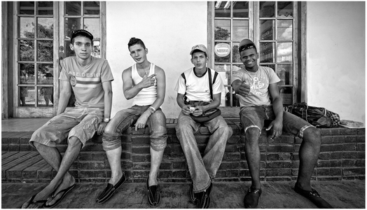 Cuban Teens Hanging Out
