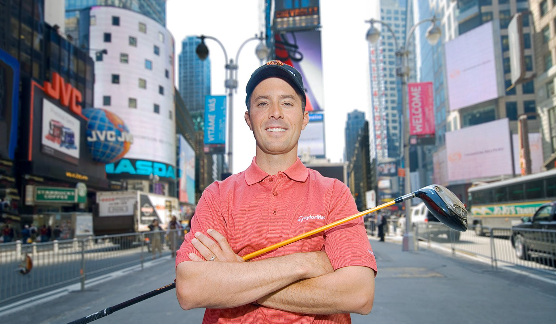Golf Pro in Times Square