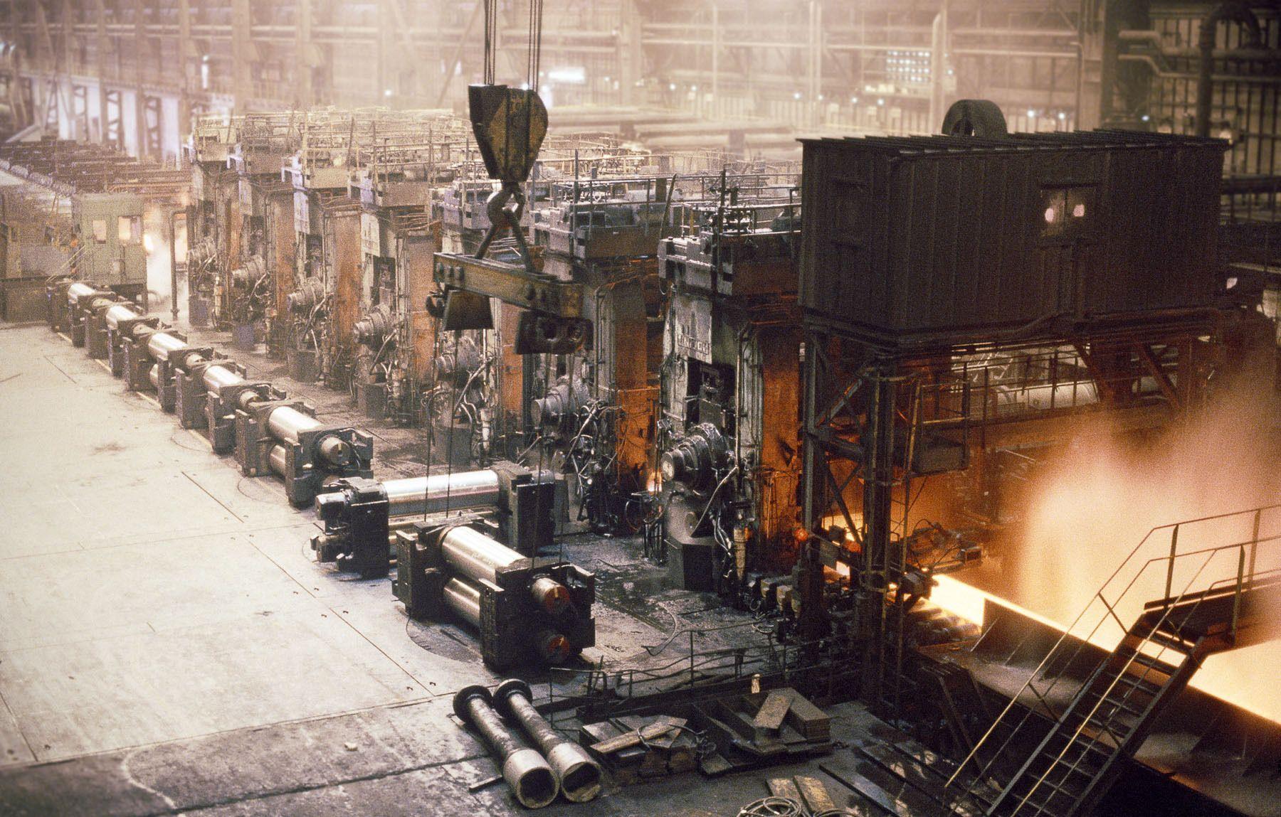 Steel Production:  Hot Strip Finnish Mills