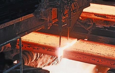 Continuous Caster Slab Cutting