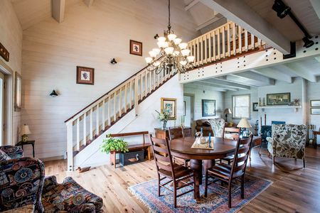 Arborwall Log Home Interior