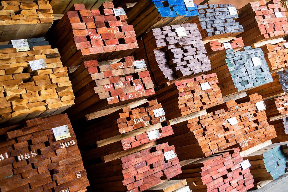 Hardwood Lumber Storage