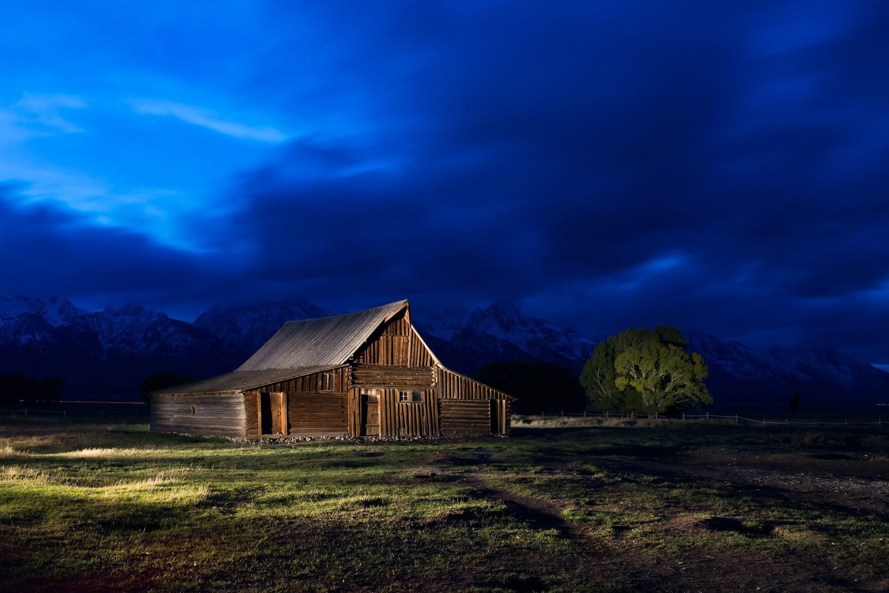 Light Painted Barn