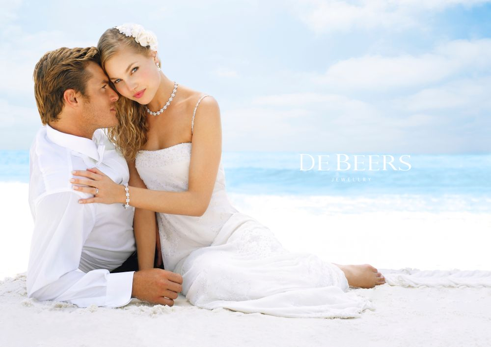 De Beers Diamonds Florida Beach Wedding