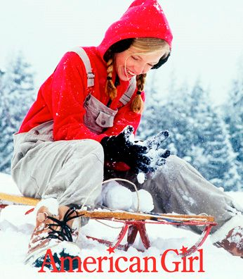 American Girl Girl on Sled