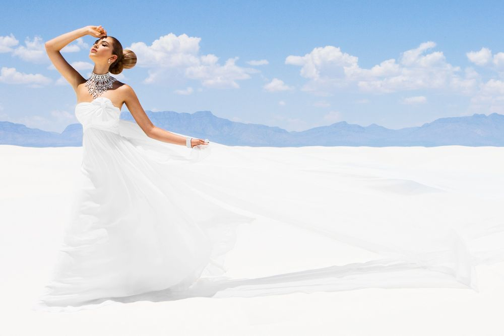 White Sands Girl in Desert
