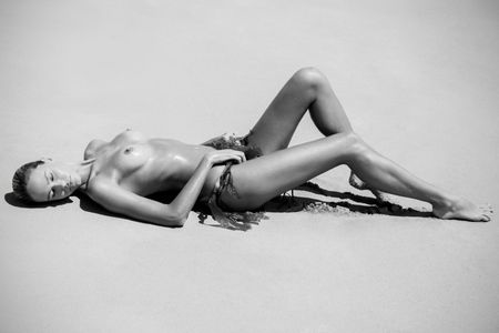 Laying On Sand - Fine Art Photographer In Los Angeles