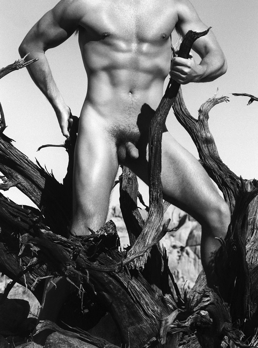 Fine Art Male Model with Tree