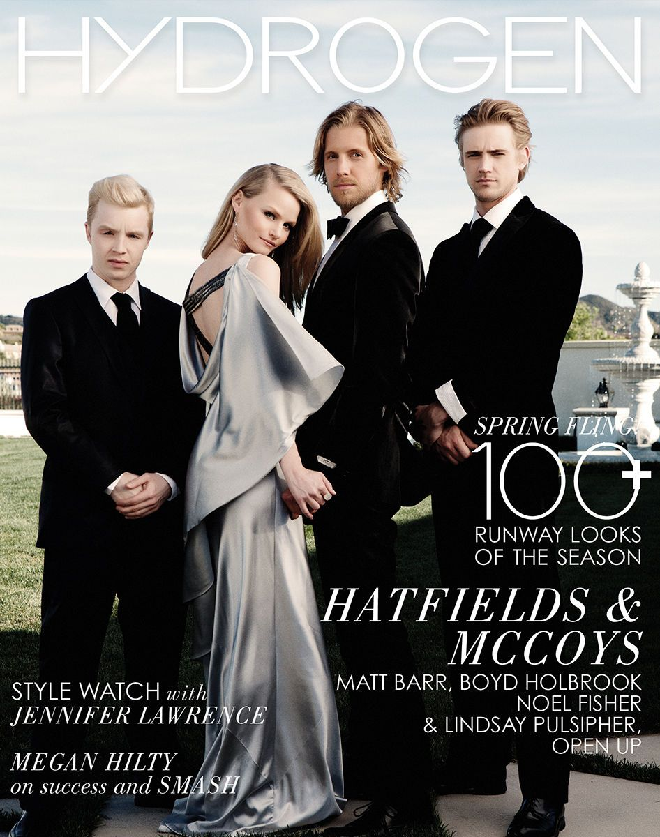 The Cast of Hatfields and McCoys Hydrogen Magazine Cover