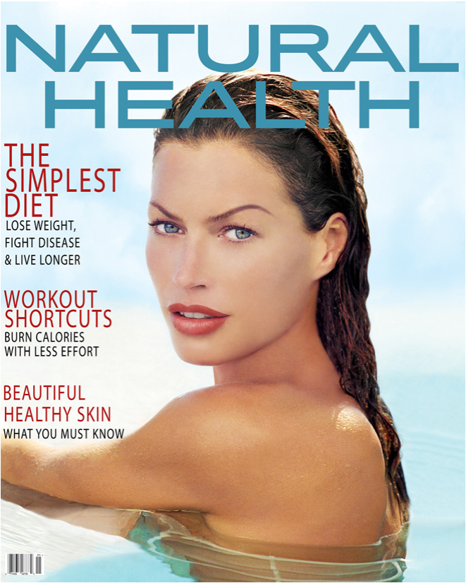 Girl in Pool Natural Health Magazine Cover