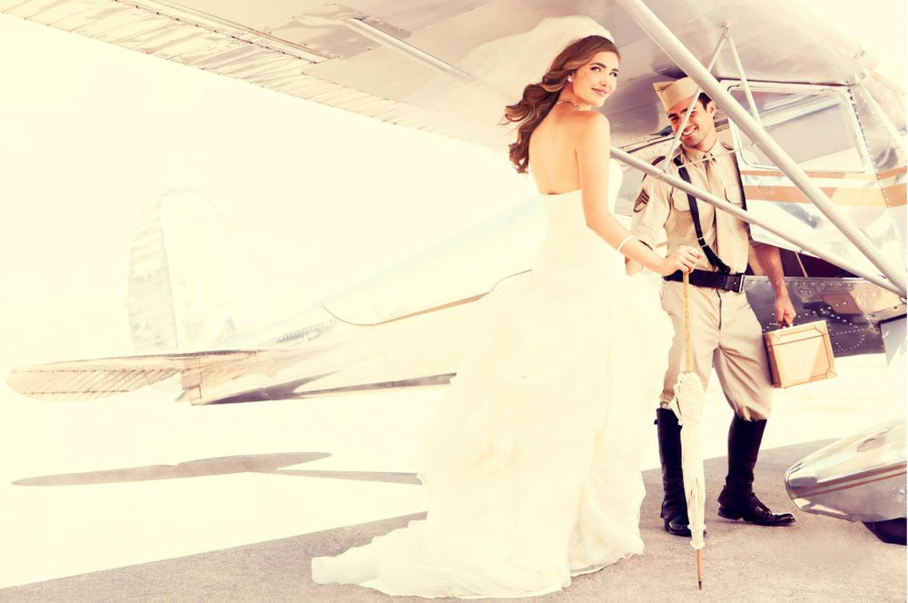 White Sands Airport Wedding Couple