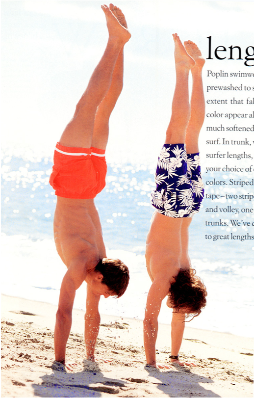 J.Crew Handstands on Beach