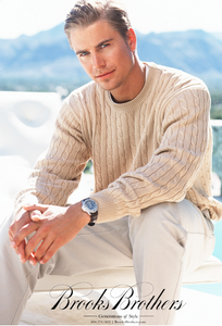 Brooks Brothers Man in Beige