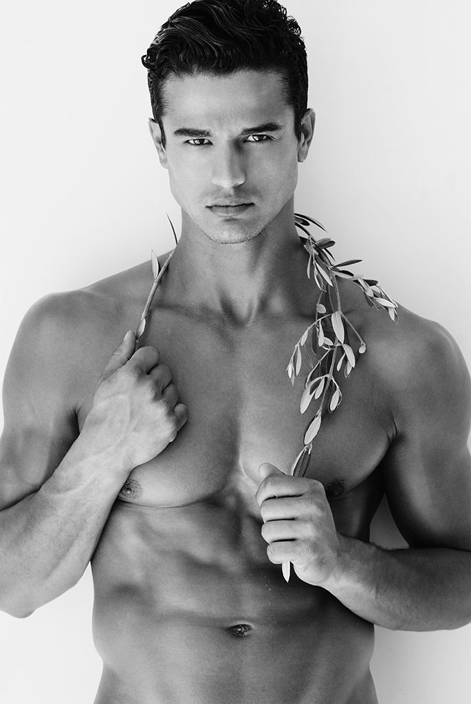 Fine Art Male Model with Plant