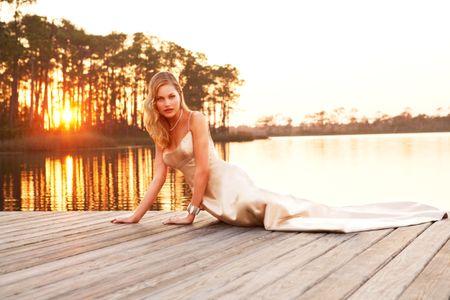 Florida Bride on Pier - Wedding Photographer In NYC