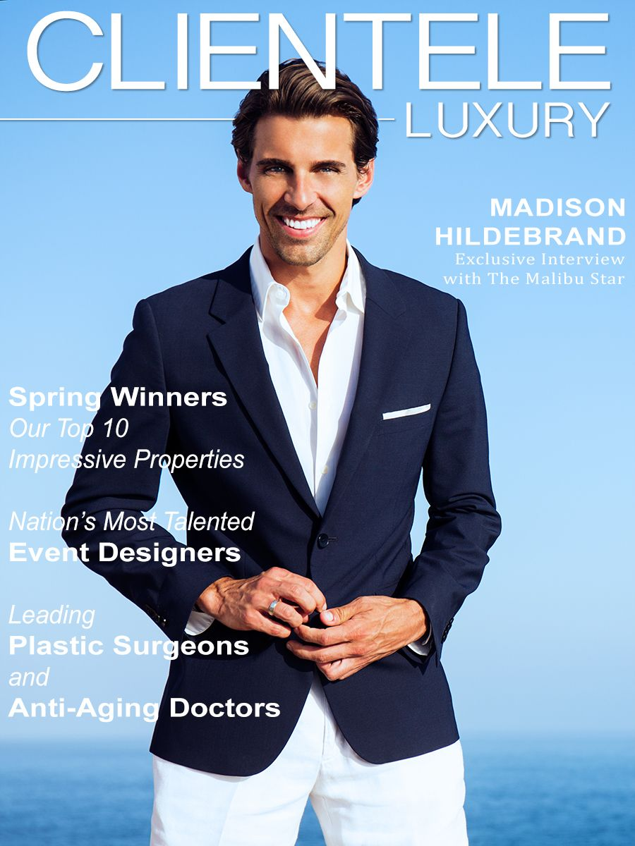 Madison Hildebrand Clientele Luxury Magazine Cover