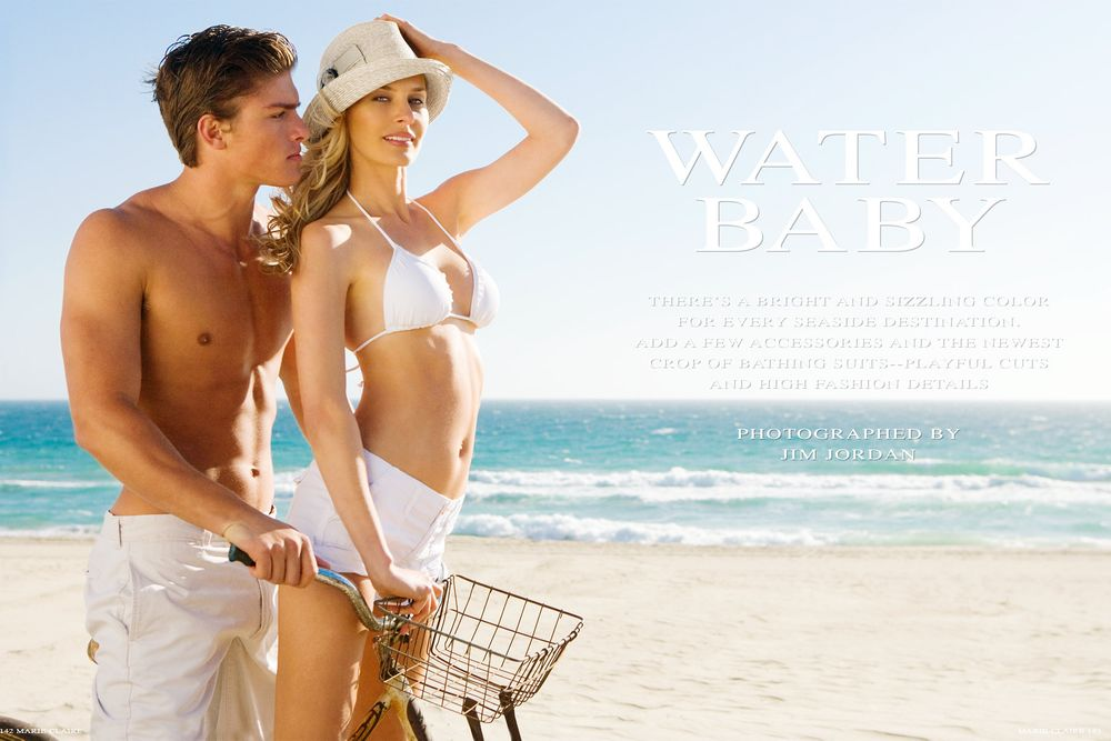 Marie Claire Magazine Water Baby
