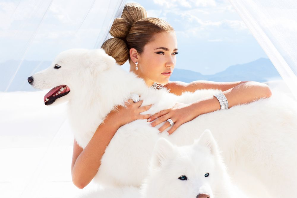 White Sands Girl with Dogs