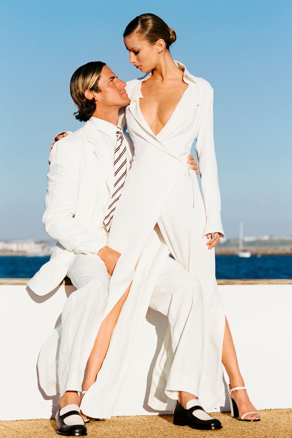 Marie Claire Couple on Boat Marina Del Rey