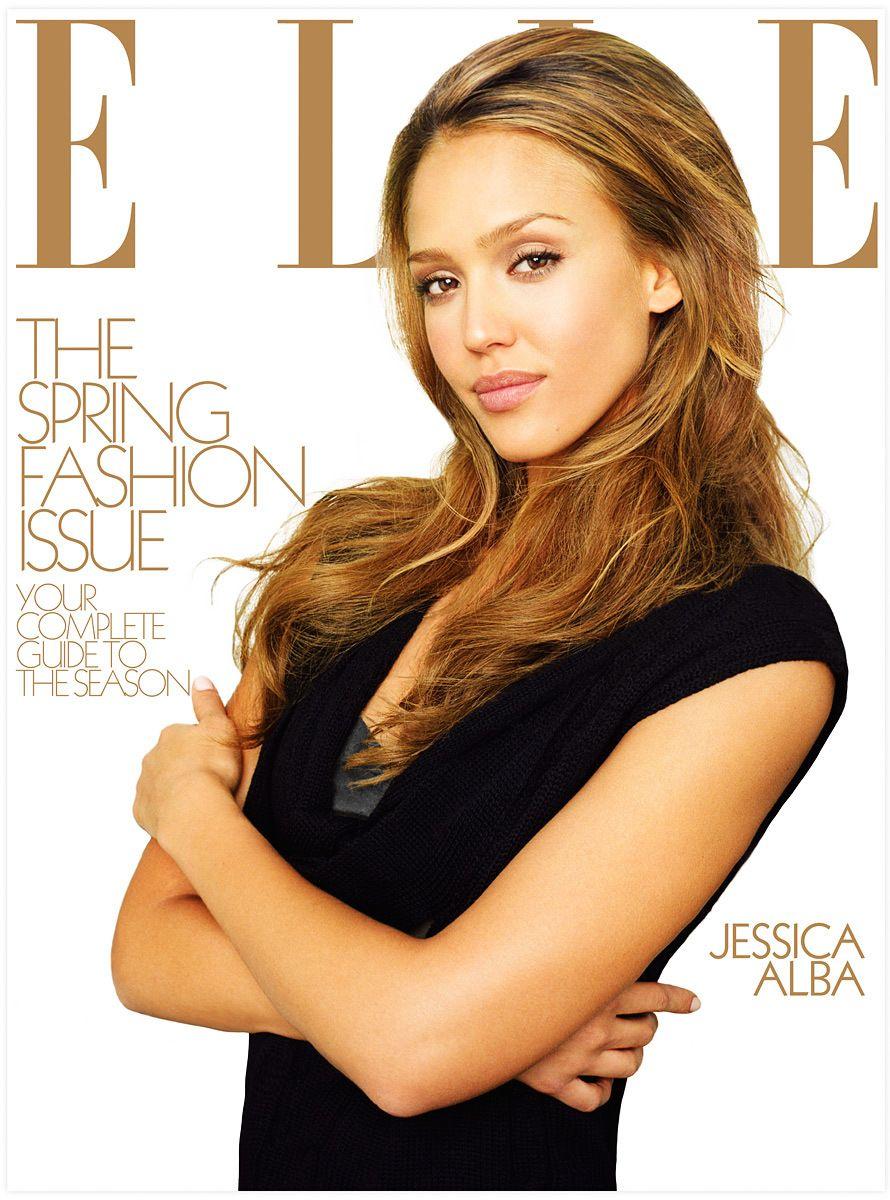 Jessica Alba Elle Cover