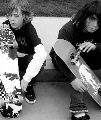 Kids of Summer Boys with Skateboards