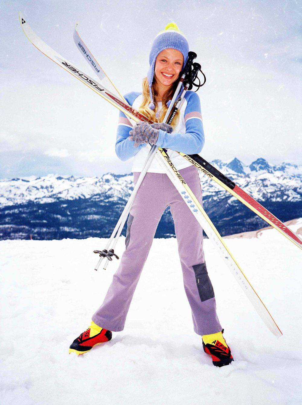 American Girl Girl with Skis