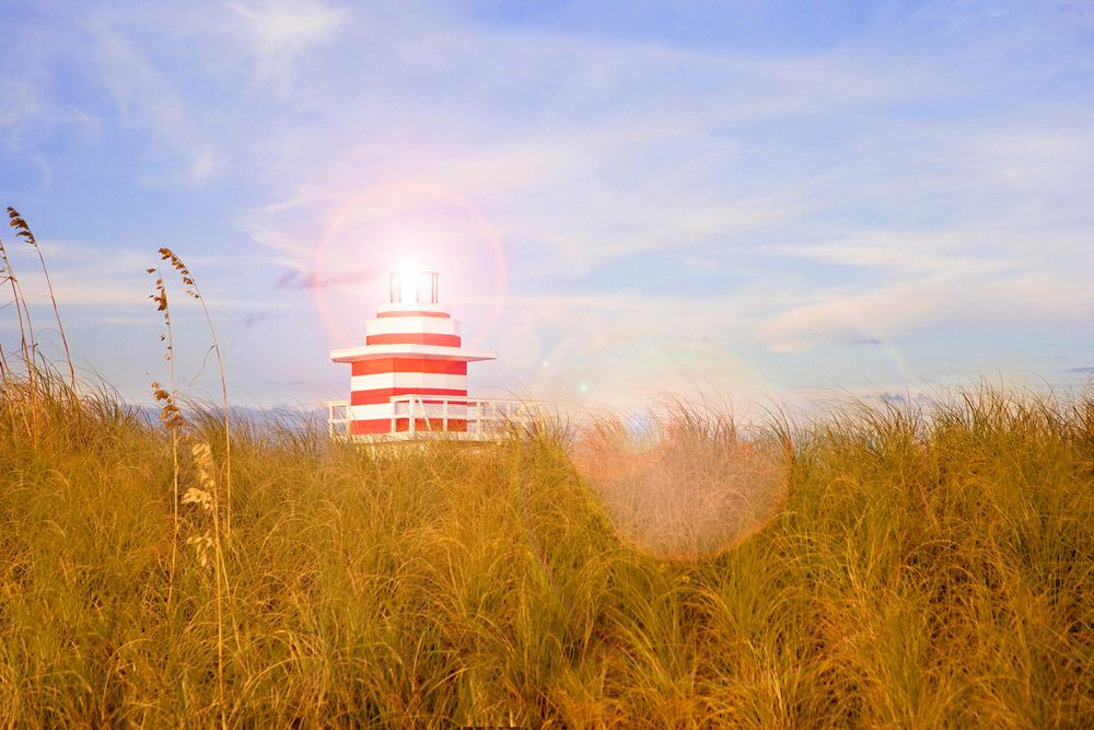Lighthouse in Grass