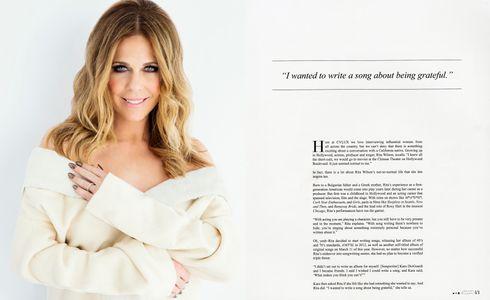 Rita Wilson White Wall CVLUX Magazine