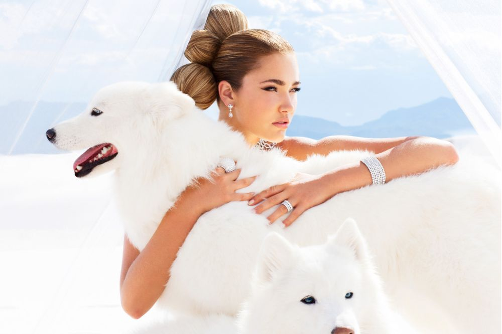 White Sands Bridal Girl with Dogs