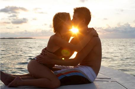 Couple on Boat Sunset Key West Florida