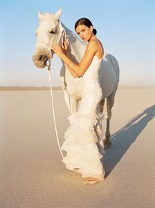 Bride and Horse - Event Photographer Los Angeles