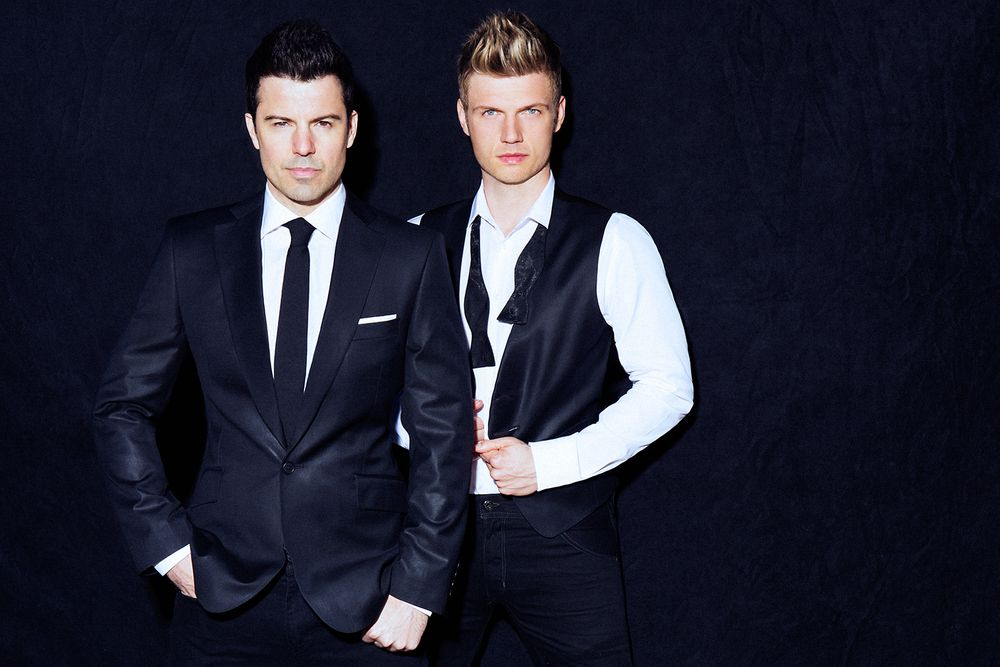 Nick Carter and Jordan Knight