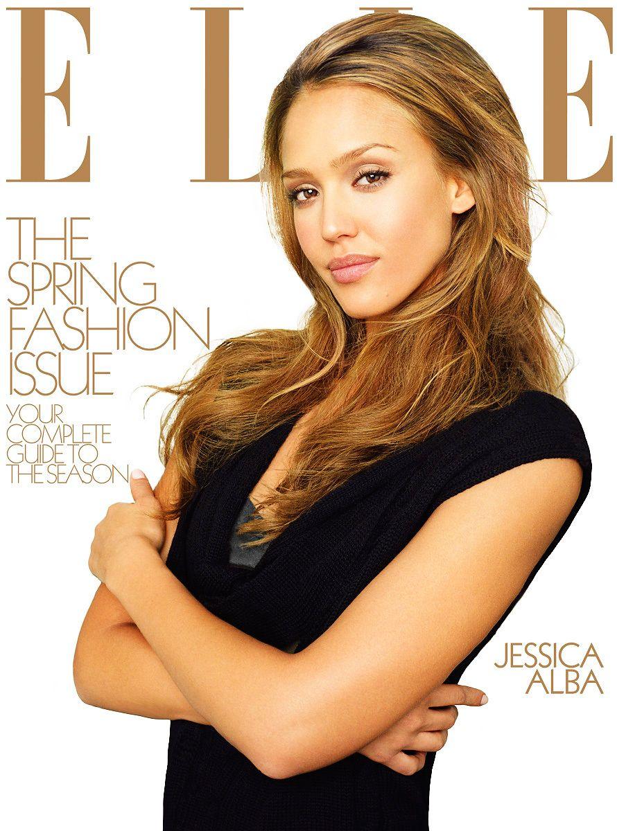 Jessica Alba Elle Magazine Cover