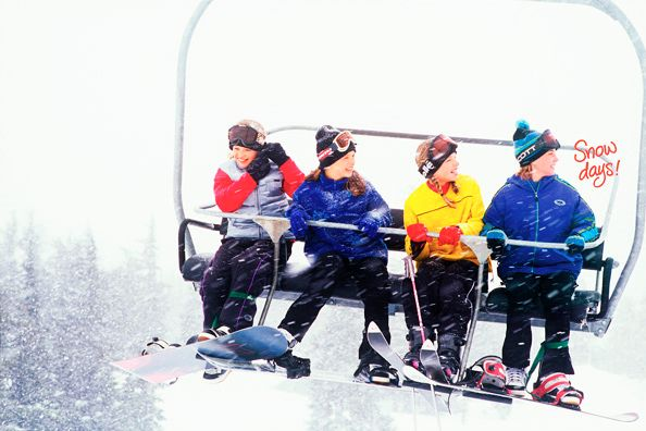 American Girl Snow Days Girls on Ski Lift