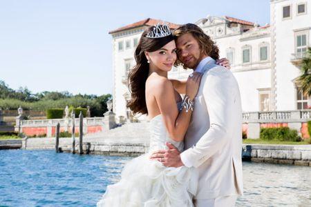 Florida Estate Wedding Bride and Groom