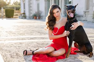 Florida Bride with Dog