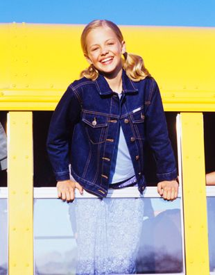 American Girl Girl on Bus