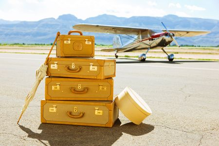 Airplane with Suitcases - Travel Photographer New York