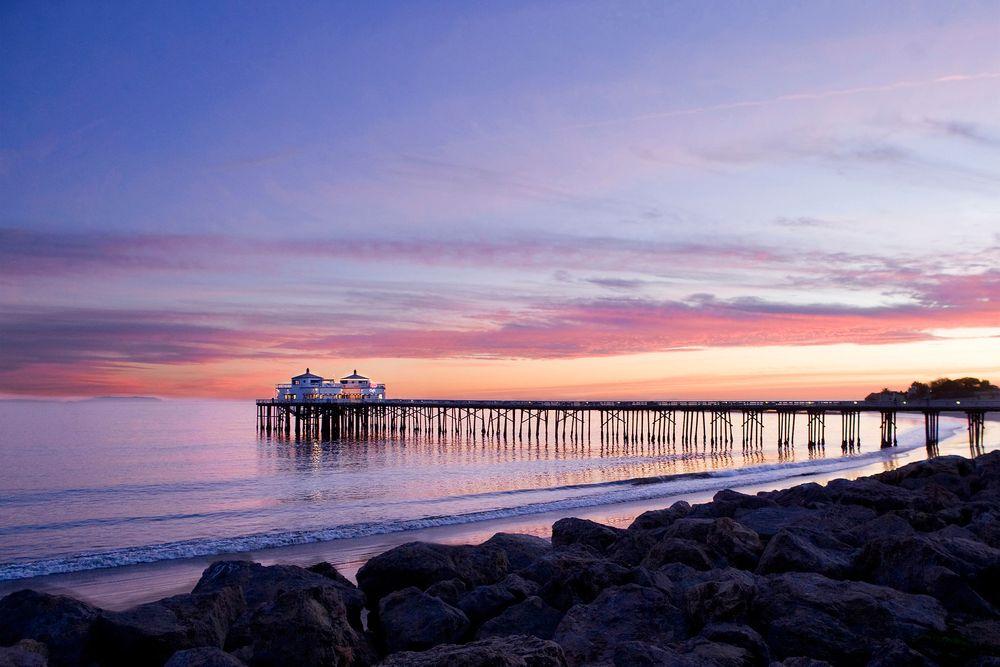 Pier in Malibu at Sunset
