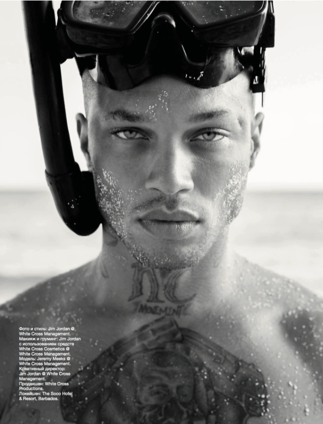 Jeremy Meeks in Barbados with Goggles